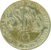 10 francs - Casino de Monte-carlo – revers