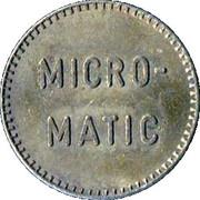 Jeton de lavage automobile - Micro-matic – revers