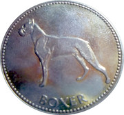 Frolic dogfood commercial token - Boxer – avers