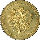 Powrót M. Kopernika do Torunia – avers