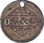 Osborne, Garret & Co (O. G. & Co) 1 Shilling Token – avers