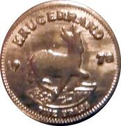 1 Krugerrand Gold plated token – revers
