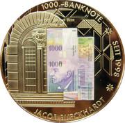 commémoration des billets de banque nationale Suisse – avers