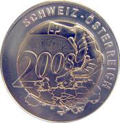 Euro-Football 2008 Suisse Autriche – revers