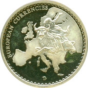 Medal / European Currency Introduction – revers