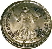 Nürnberg Kerzendreier  (3 candle baptismal token) – avers
