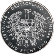 Token - Deutschland (Germany at the Vancouver Olympic Games) – revers