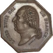 Chambre de commerce d'Amiens - Louis XVIII – avers