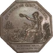 Chambre de commerce d'Amiens - Louis XVIII – revers