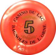 Casino Bagnoles-de-l'Orne (61) - 5 francs – revers