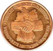 Token - Wendepunkte Deutscher Geschichte (Tag der Deutschen Einheit 9. November 1989) – revers