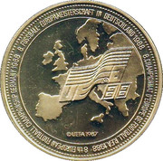 Jeton - UEFA Euro 1988  – revers