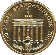 Jeton - 200e anniversaire de la Porte de Brandebourg – avers