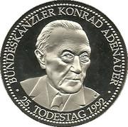 Konrad Adenauer 25th Death Anniversary – avers