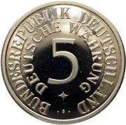 Token - 40 Years of 5 Silver Mark – avers