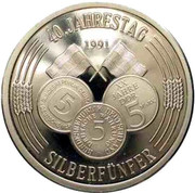 Token - 40 Years of 5 Silver Mark – revers