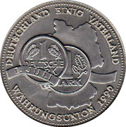 Token - Deutschland (Deutschland einig Vaterland; Wahrungsunion - German Currency Union) – avers