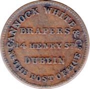 Cannock White & Co. Drapers Dublin Farthing – revers