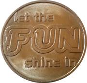 Let the Fun Shine in Amusement Token -  avers