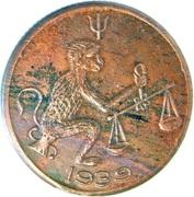 ½ Anna - East India Company (Hanuman) – revers