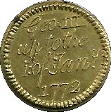 1772 Coin Weight George III S.D. 20:6 or DwtGr. 5:6 – avers