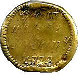 """1772 """"Counterstamped"""" George III S.D. 20:6 OR DwtGr. 5:6 – avers"""