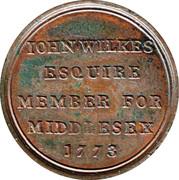 John Wilkes Token – revers
