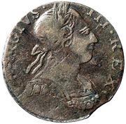 1777 Counterfeit Half Penny George III – avers