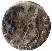 1777 Counterfeit Half Penny George III – revers