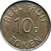 10 Pences - Bell Fruit token – avers