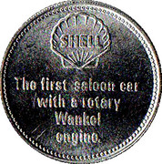 Jeton Shell - N.S.U Ro80 1968 – revers