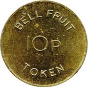 10p Bell Fruit Token – avers