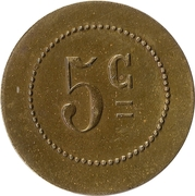 Jeton - 5 centimes – avers