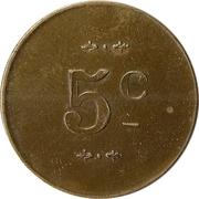 Jeton - 5 centimes – revers