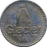 No Cash Value Glacier Water token – avers