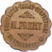 5 F M. FREMY Nouveautés, Confection -  Montereau (77) – avers