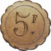 5 F M. FREMY Nouveautés, Confection -  Montereau (77) – revers