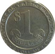 Palace Casino Biloxi 1 Dollar – revers