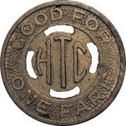 1 Fare (Hutchinson Transportation Co.) – revers