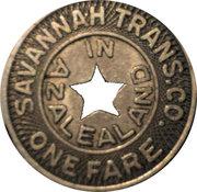 1 Fare (Savanah Trans. Co.) – avers