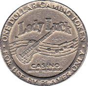 Lady Luck One Dollar Casino Token – avers