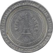 Paris 1 Dollar Casino Token (Las Vegas) – revers