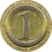 Jeton de casino 1 Dollar - The Venetian Casino (Las Vegas) – revers