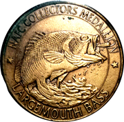 Token - North American Fishing Club (Collector's Series 1 - Largemouth Bass) – revers