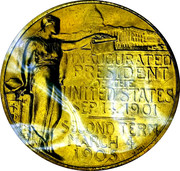 Presidential Inaugural Medal, Theodore Roosevelt (2nd) – revers