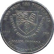 25 Cents - Salem IN Sesqui-Centennial  – avers