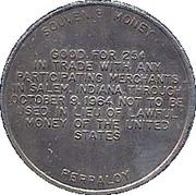 25 Cents - Salem IN Sesqui-Centennial  – revers