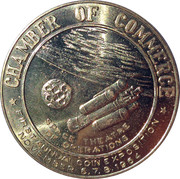 City of Hawthorne California Coin Expo 1966 Space Theatre of Operations – revers