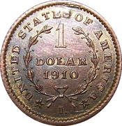 1 Dolar 1910 – avers