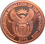 2 Cents (Commemorative Medallion) – avers